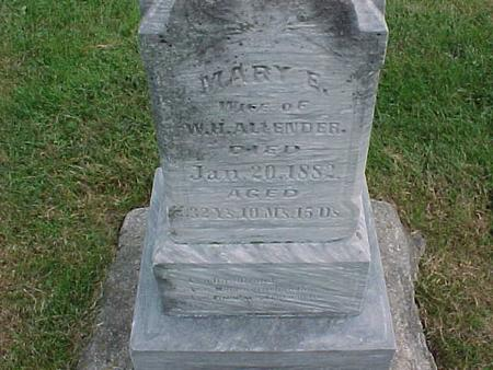 ALLENDER, MARY - Henry County, Iowa | MARY ALLENDER
