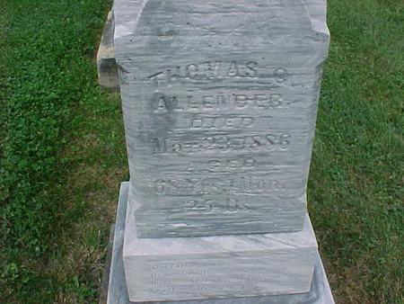 ALLENDER, THOMAS - Henry County, Iowa | THOMAS ALLENDER