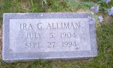 ALLIMAN, IRA G. - Henry County, Iowa | IRA G. ALLIMAN