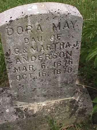 ANDERSON, DORA MAY - Henry County, Iowa | DORA MAY ANDERSON
