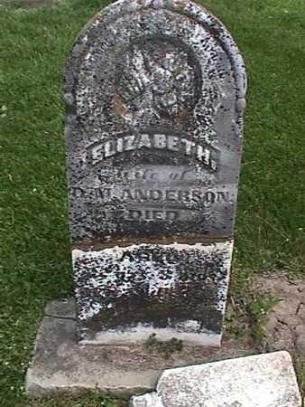 ANDERSON, ELIZABETH - Henry County, Iowa | ELIZABETH ANDERSON