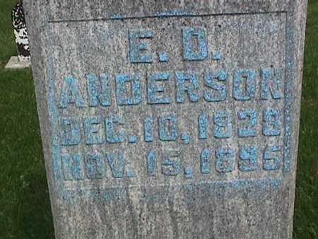 ANDERSON, E. D. - Henry County, Iowa | E. D. ANDERSON