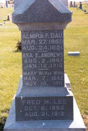 ANDREWS, MARY W. - Henry County, Iowa | MARY W. ANDREWS