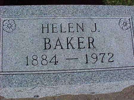 BAKER, HELEN J. - Henry County, Iowa   HELEN J. BAKER