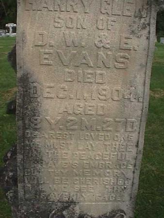 EVANS, HARRY GLEN - Henry County, Iowa | HARRY GLEN EVANS