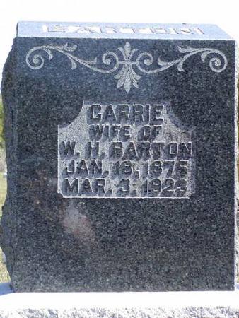 BARTON, CARRIE, WIFE OF W. H. - Henry County, Iowa | CARRIE, WIFE OF W. H. BARTON