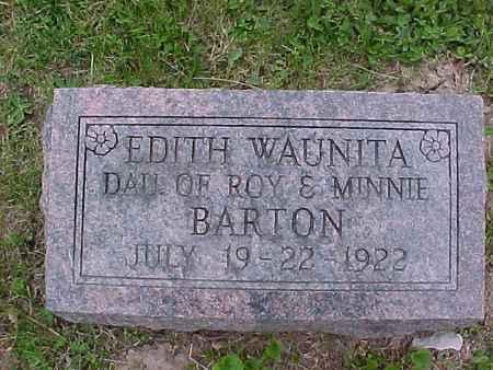 BARTON, EDITH WAUNITA - Henry County, Iowa | EDITH WAUNITA BARTON
