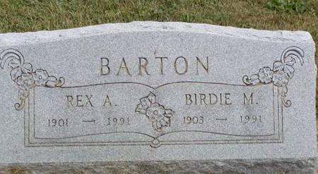 BARTON, REX A. & BIRDIE M. - Henry County, Iowa | REX A. & BIRDIE M. BARTON