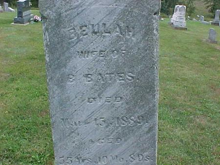 BATES, BEULAH - Henry County, Iowa | BEULAH BATES