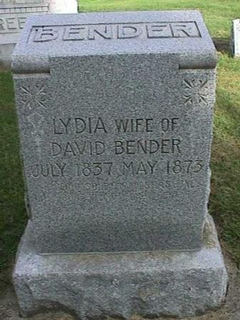 BENDER, LYDIA - Henry County, Iowa   LYDIA BENDER