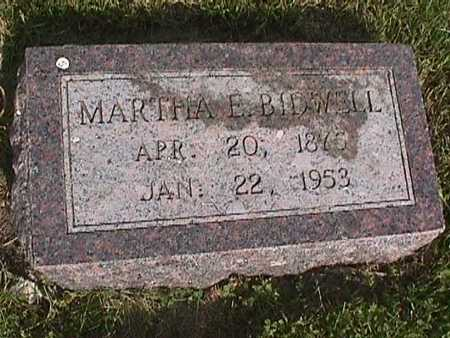 BIDWELL, MARTHA E. - Henry County, Iowa | MARTHA E. BIDWELL