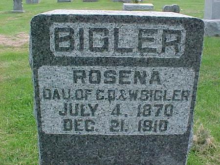 BIGLER, ROSENA - Henry County, Iowa | ROSENA BIGLER