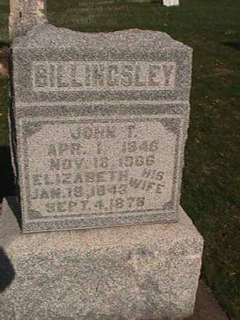BILLINGSLEY, ELIZABETH - Henry County, Iowa   ELIZABETH BILLINGSLEY