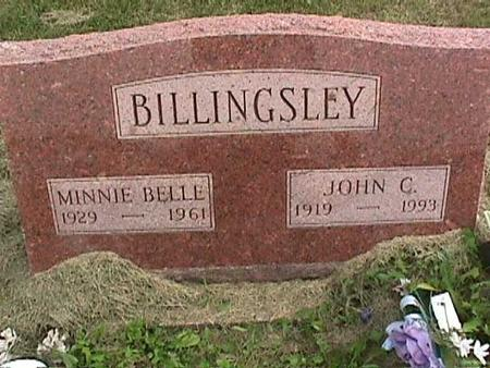BILLINGSLEY, MINNIE BELLE - Henry County, Iowa | MINNIE BELLE BILLINGSLEY
