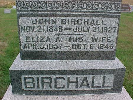 BIRCHALL, ELIZA - Henry County, Iowa | ELIZA BIRCHALL