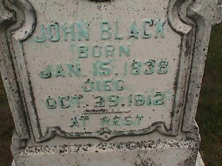 BLACK, JOHN - Henry County, Iowa | JOHN BLACK