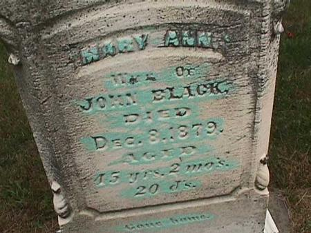 BLACK, MARY ANN - Henry County, Iowa   MARY ANN BLACK