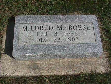 BOESE, MILDRED M. - Henry County, Iowa | MILDRED M. BOESE