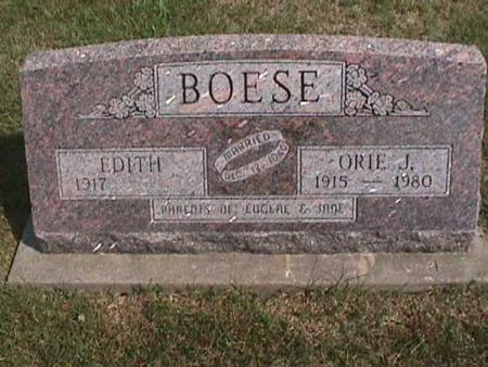 BOESE, ORIE - Henry County, Iowa | ORIE BOESE
