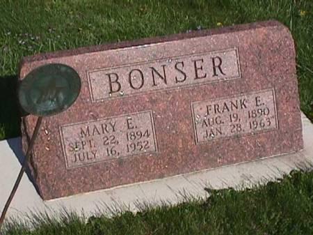 BONSER, FRANK E. - Henry County, Iowa | FRANK E. BONSER