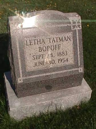 TATMAN BOROFF, LETHA - Henry County, Iowa   LETHA TATMAN BOROFF