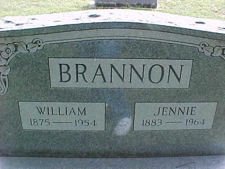 BRANNON, JENNIE - Henry County, Iowa   JENNIE BRANNON