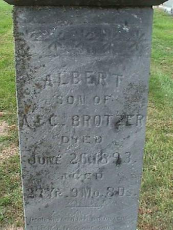 BROTZER, ALBERT - Henry County, Iowa | ALBERT BROTZER