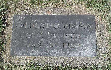 BROWN, GILBERT G. - Henry County, Iowa   GILBERT G. BROWN