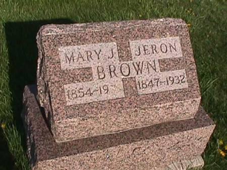 BROWN, JERON - Henry County, Iowa | JERON BROWN