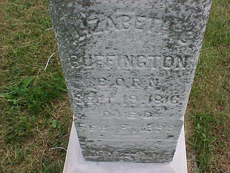 BUFFINGTON, ELIZABETH - Henry County, Iowa | ELIZABETH BUFFINGTON