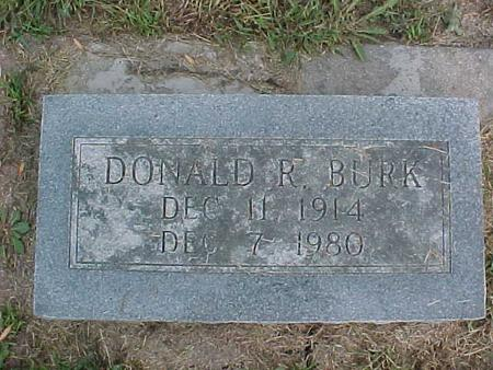 BURK, DONALD R. - Henry County, Iowa | DONALD R. BURK