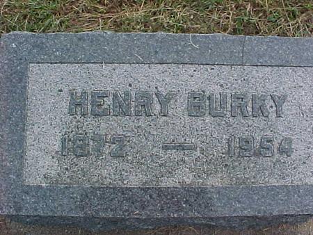 BURKY, HENRY - Henry County, Iowa | HENRY BURKY