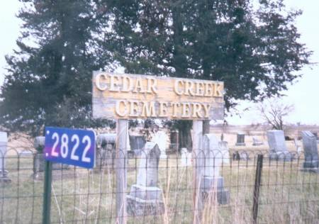 CEDAR CREEK, CEMETERY - Henry County, Iowa | CEMETERY CEDAR CREEK