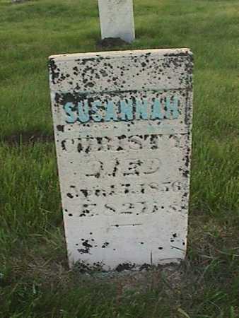 CHRISTY, SUSANNAH - Henry County, Iowa | SUSANNAH CHRISTY