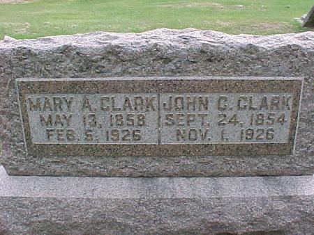 CLARK, JOHN C - Henry County, Iowa   JOHN C CLARK