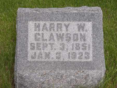 CLAWSON, HARRY W. - Henry County, Iowa   HARRY W. CLAWSON