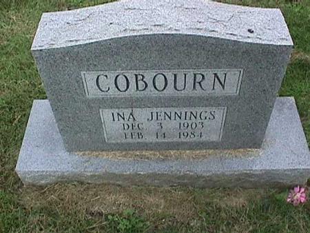 JENNINGS COBOURN, INA - Henry County, Iowa   INA JENNINGS COBOURN