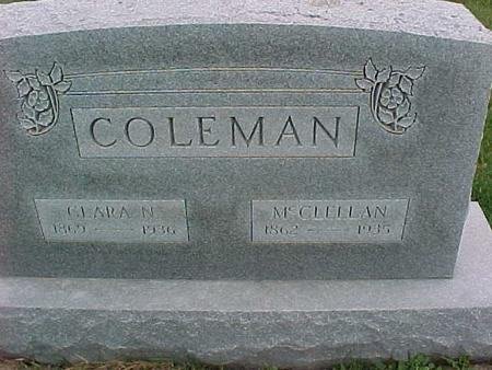 COLEMAN, CLARA - Henry County, Iowa | CLARA COLEMAN