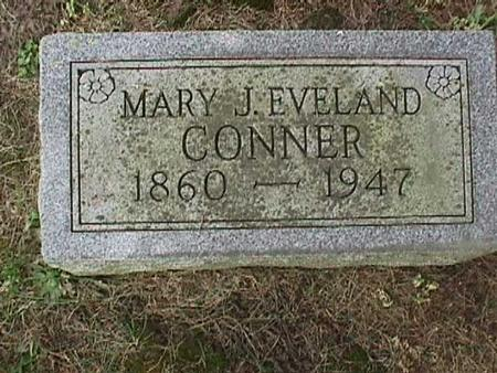 EVELAND CONNER, MARY J - Henry County, Iowa | MARY J EVELAND CONNER