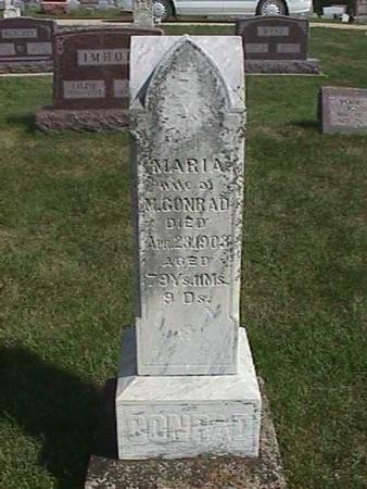 CONRAD, MARIA - Henry County, Iowa | MARIA CONRAD