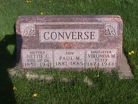 CONVERSE, NETTIE C. - Henry County, Iowa | NETTIE C. CONVERSE