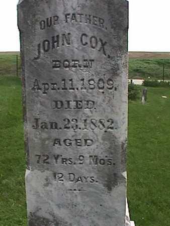COX, JOHN - Henry County, Iowa | JOHN COX