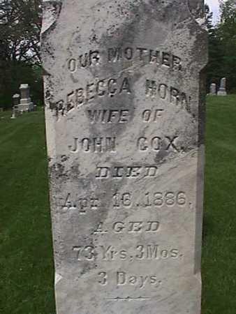 HORN COX, REBECCA - Henry County, Iowa | REBECCA HORN COX