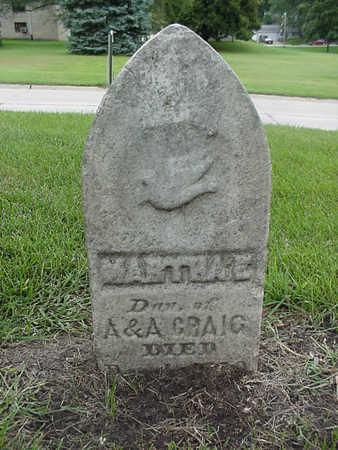 CRAIG, MARTHA E. - Henry County, Iowa | MARTHA E. CRAIG