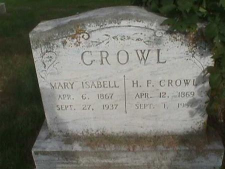 CROWL, MARY ISABELL - Henry County, Iowa | MARY ISABELL CROWL