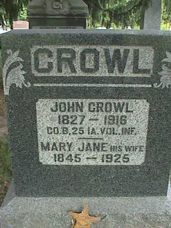 CROWL, MARY JANE - Henry County, Iowa | MARY JANE CROWL