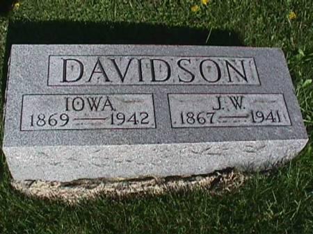 DAVIDSON, J. W. - Henry County, Iowa   J. W. DAVIDSON