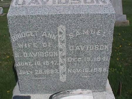DAVIDSON, SAMUEL - Henry County, Iowa | SAMUEL DAVIDSON