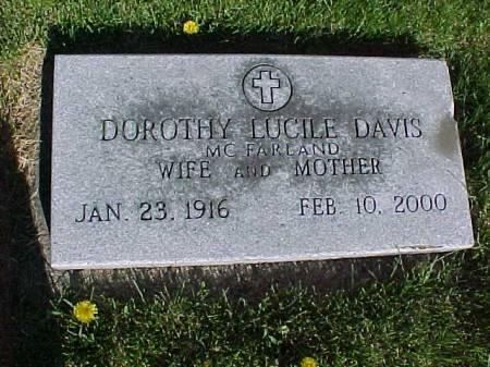 DAVIS, DOROTHY LUCILE - Henry County, Iowa   DOROTHY LUCILE DAVIS