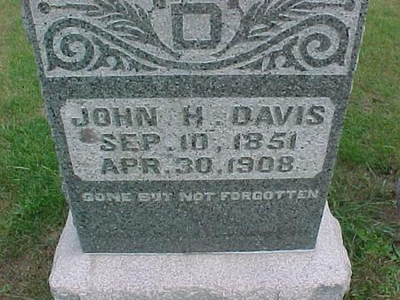 DAVIS, JOHN H. - Henry County, Iowa   JOHN H. DAVIS